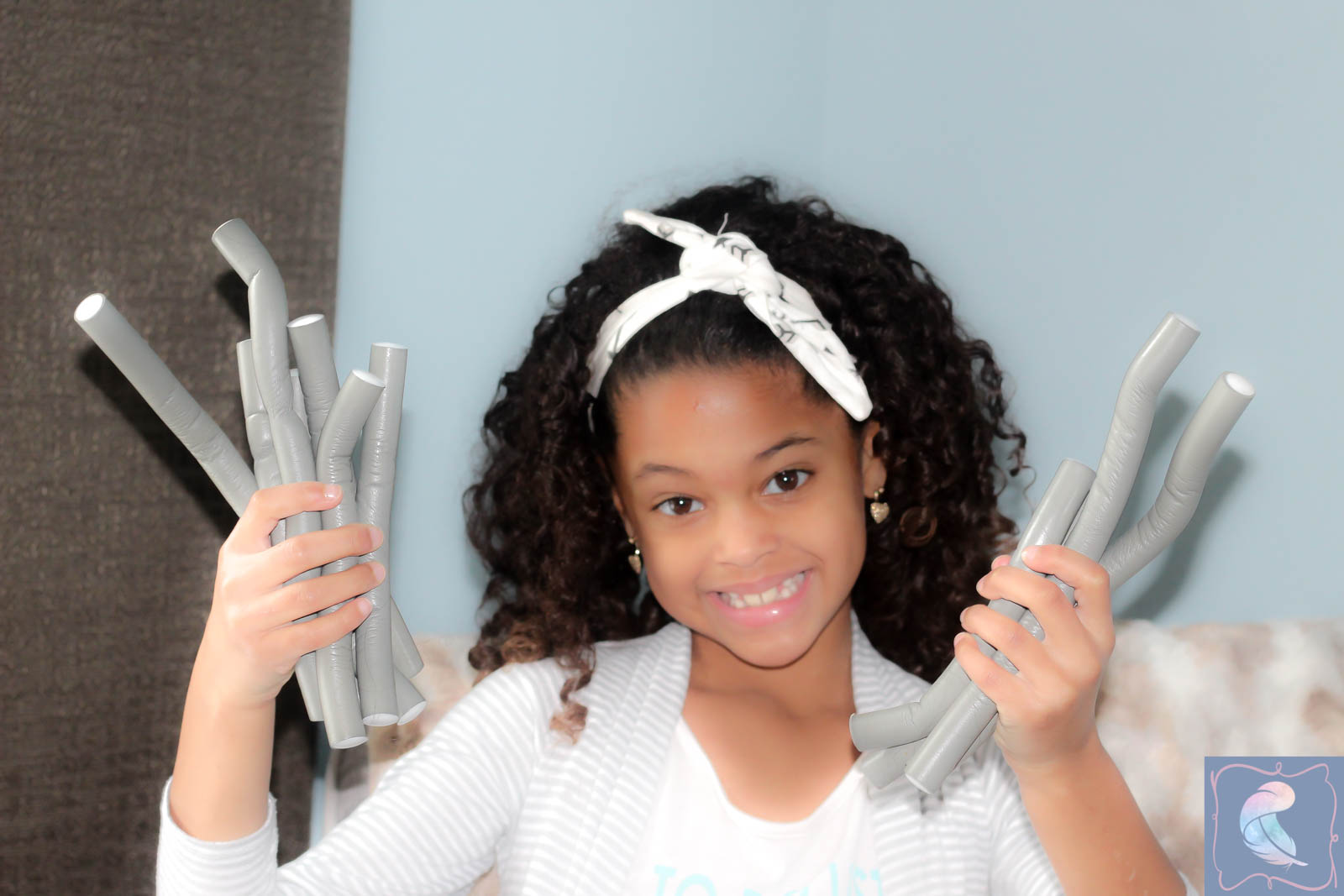 Flexi Rod Set On Mixed Kid S Hair Laufty Life