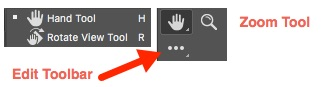 How to find a hidden tool in Photoshop toolbar