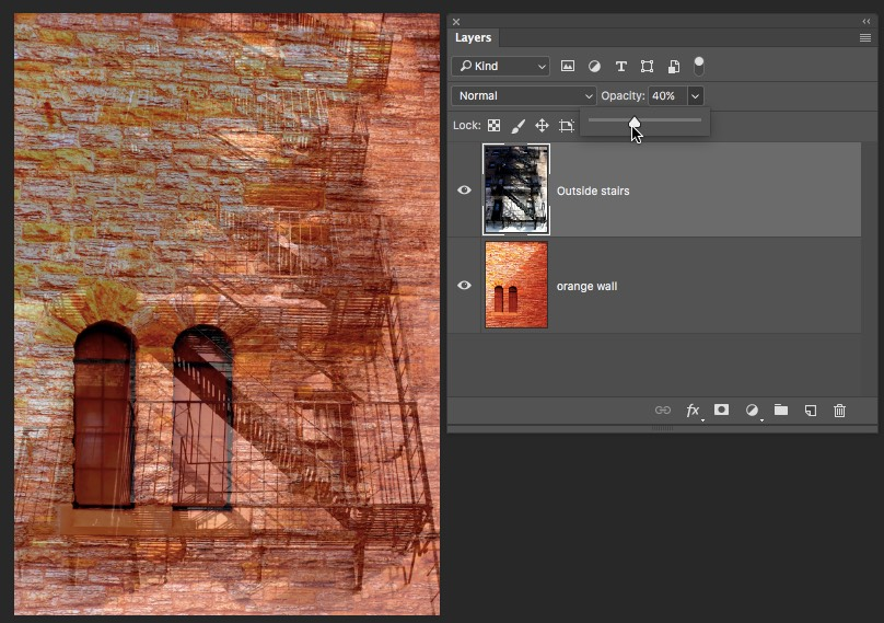 Top Layer Opacity Photoshop