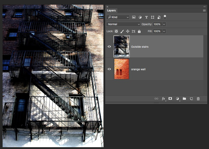 Top Layer - Photoshop Blending Modes