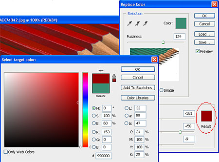 Replace Colour Tip in Photoshop : Laughing Lion Design