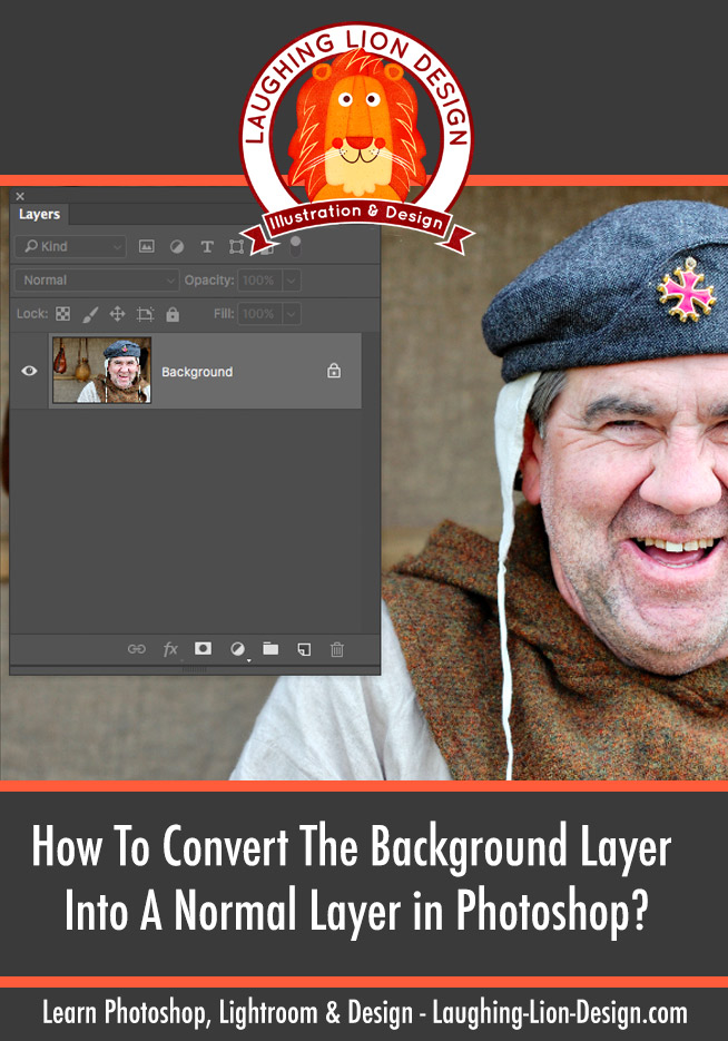 How To Convert The Background Layer Into A Normal Layer in Photoshop?