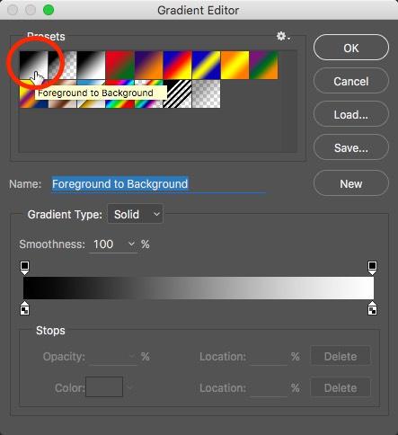 Photoshop Gradient Picker