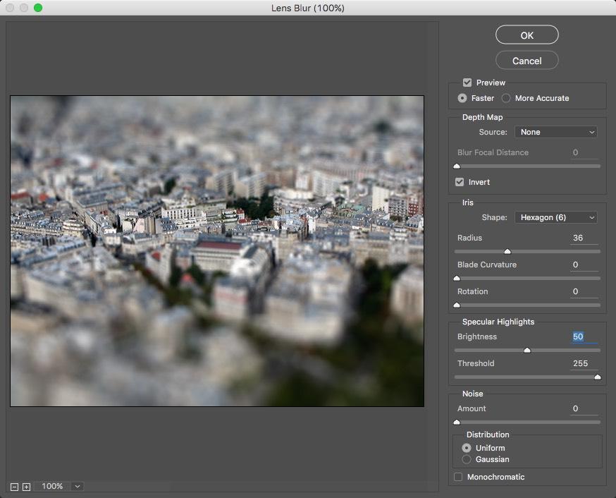 Photoshop Lens Blur