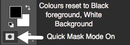 Photoshop Tilt Shift - Quick Mask