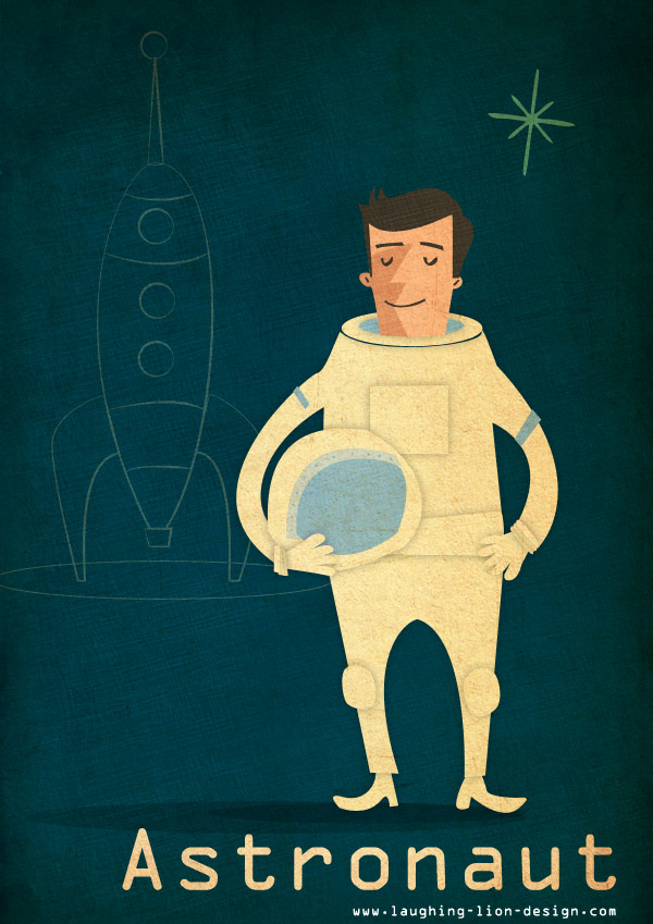 Astronaut illustration by Jennifer Farley