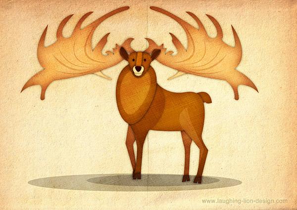 National Museum Deer Illustration Jennifer Farley