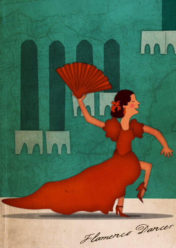 Flamenco Dancer Illustration - Jennifer Farley