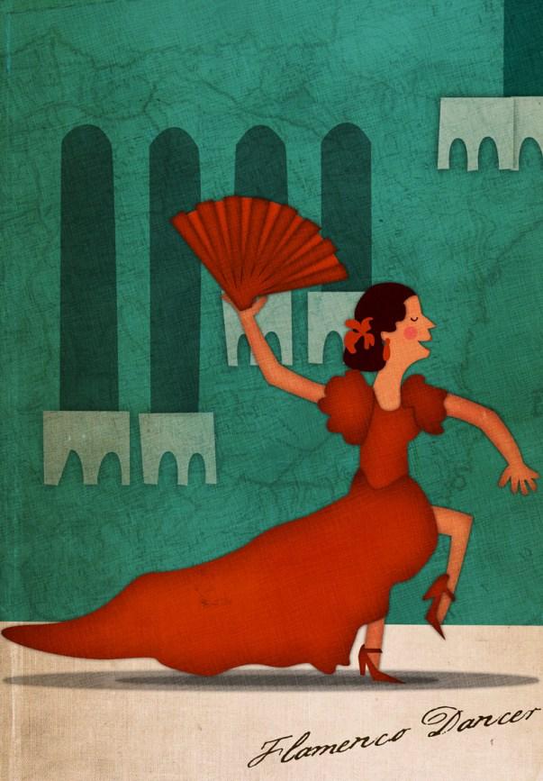 Flamenco Dancer Illustration - Jennifer Farley