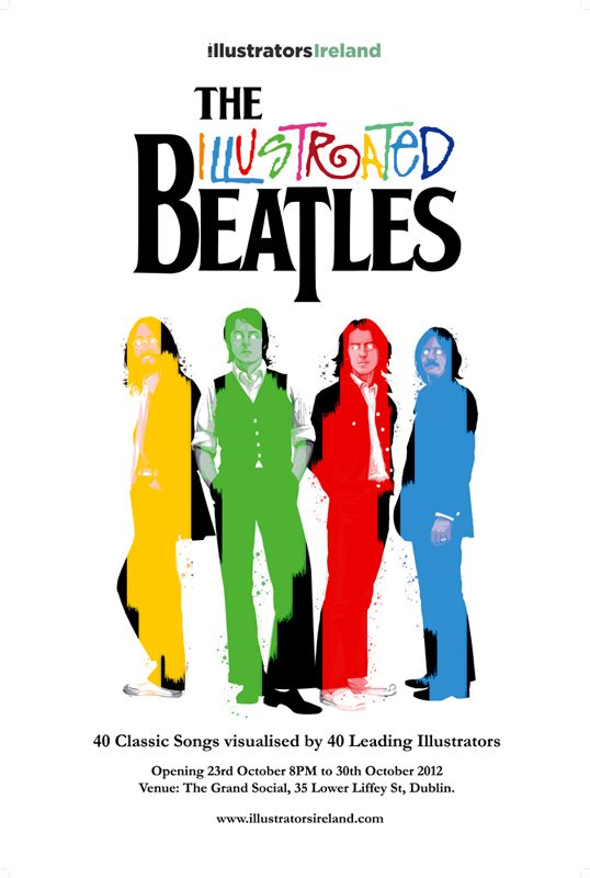 Illustrated Beatles Poster