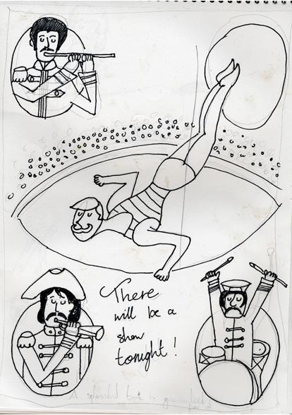Mr Kite Sketch by Jennifer Farley