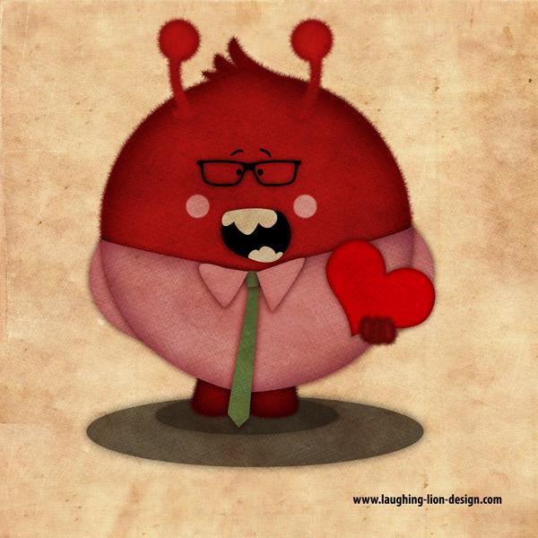 Love Monster Illustration by Jennifer Farley