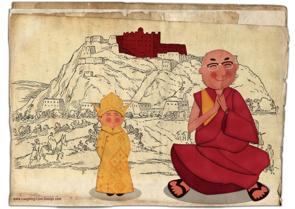 Dalai Lama Illustration