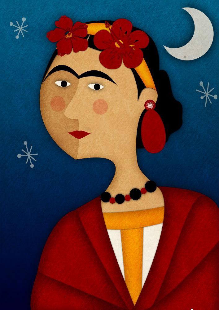 Jennifer Farley Frida Kahlo Illustration