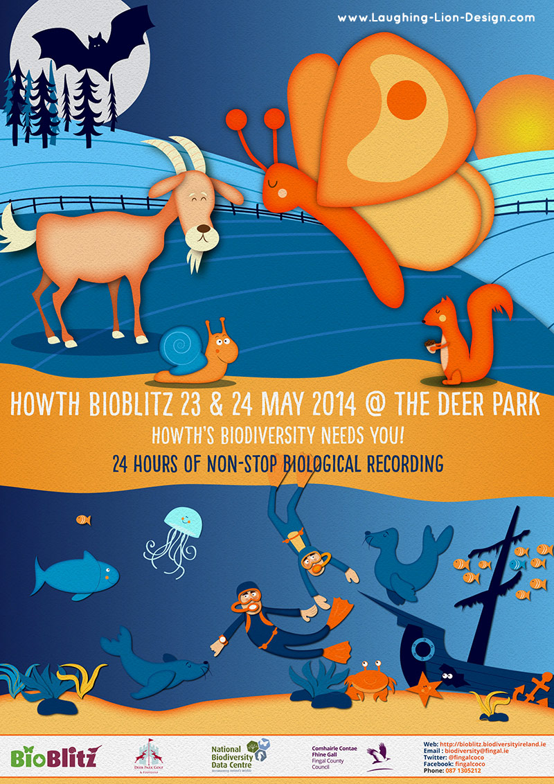 Howth Bioblitz Poster - Illustrated and designed by Jennifer Farley