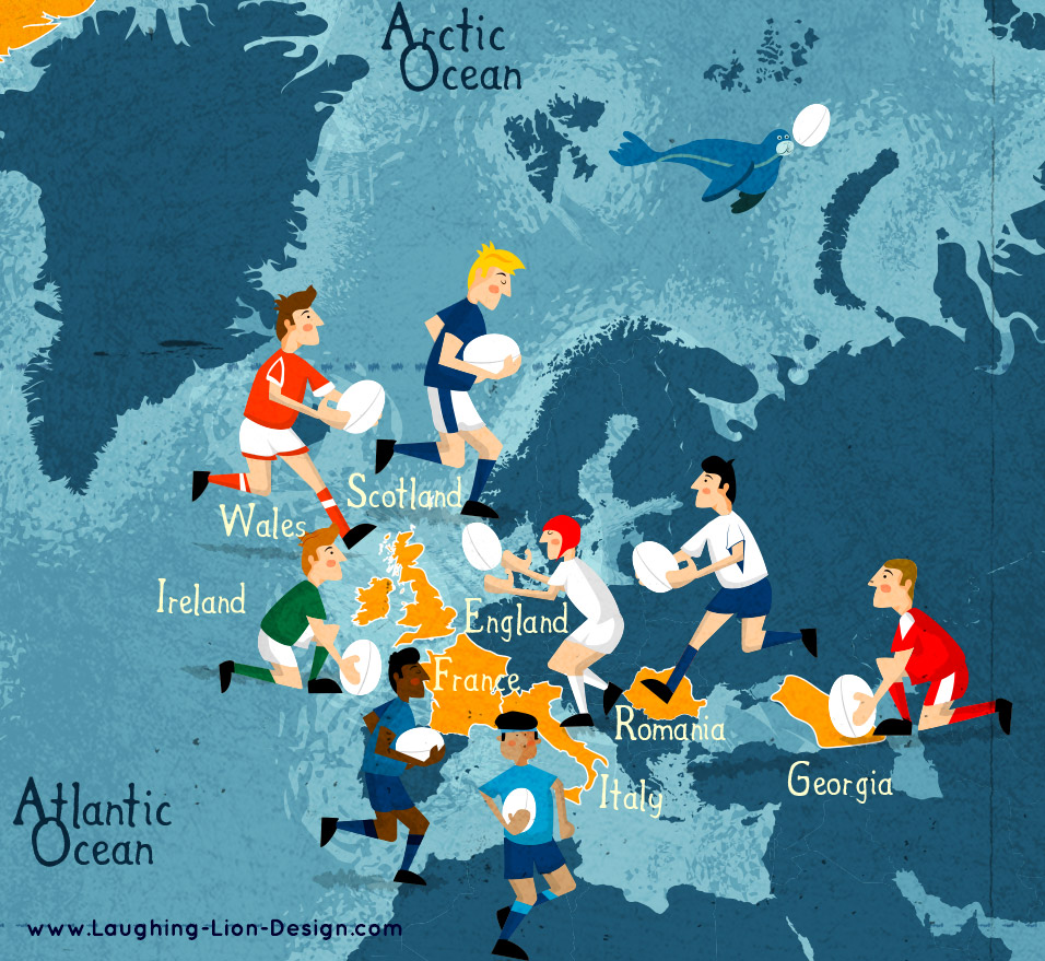 Rugby World Cup Map