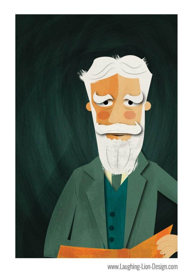 George-Bernard-Shaw-Illustrated-By-Jennifer-Farley-Print