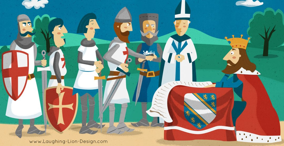 Sealing-The-Magna-Carta-illustrated-by-Jennifer-Farley