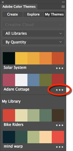 Photoshop Color Themes Panel