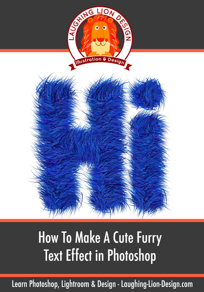 How To Make Cute Furry Text In Photoshop