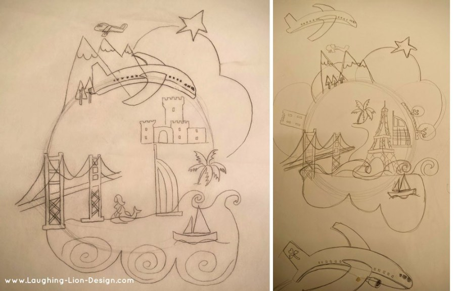 Initial sketches and layout ideas