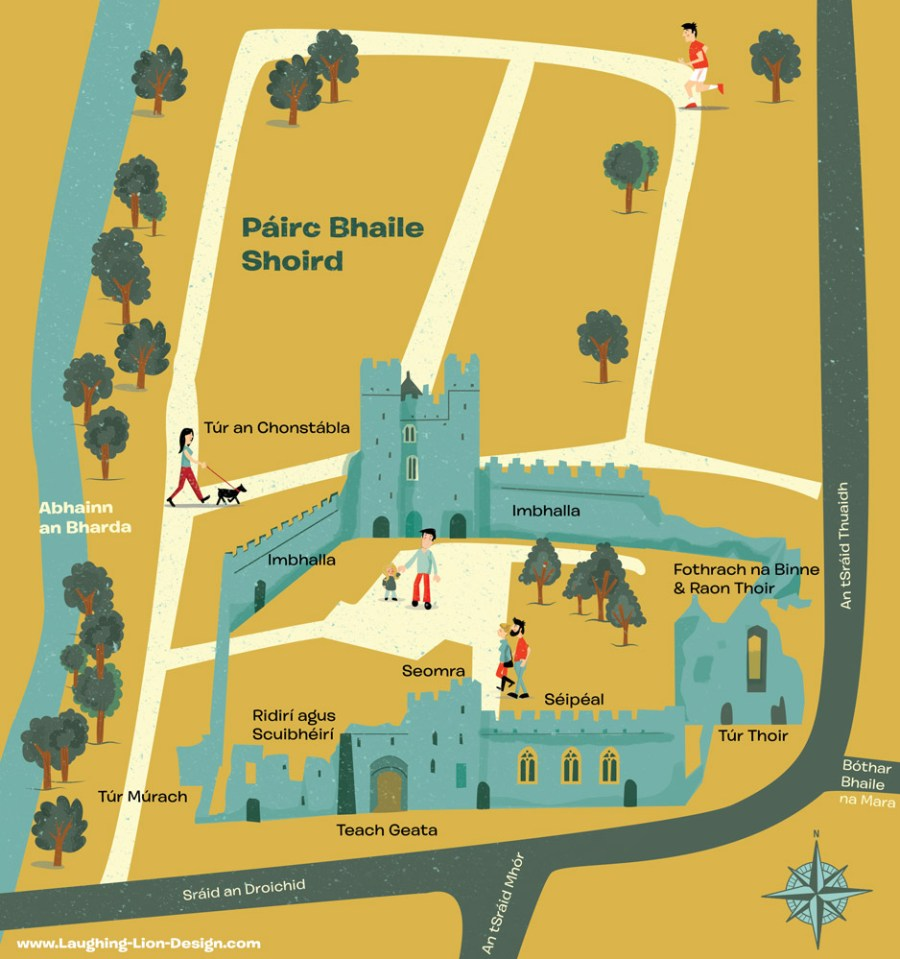 swords-castle-map-irish-jennifer-farley