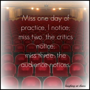 miss one day of practice