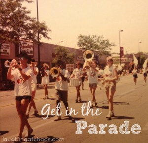 get in the parade