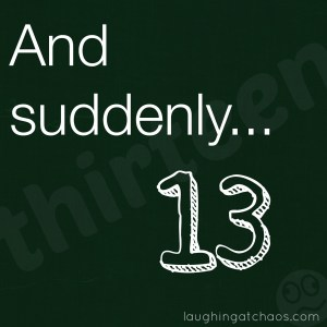 and suddenly...13