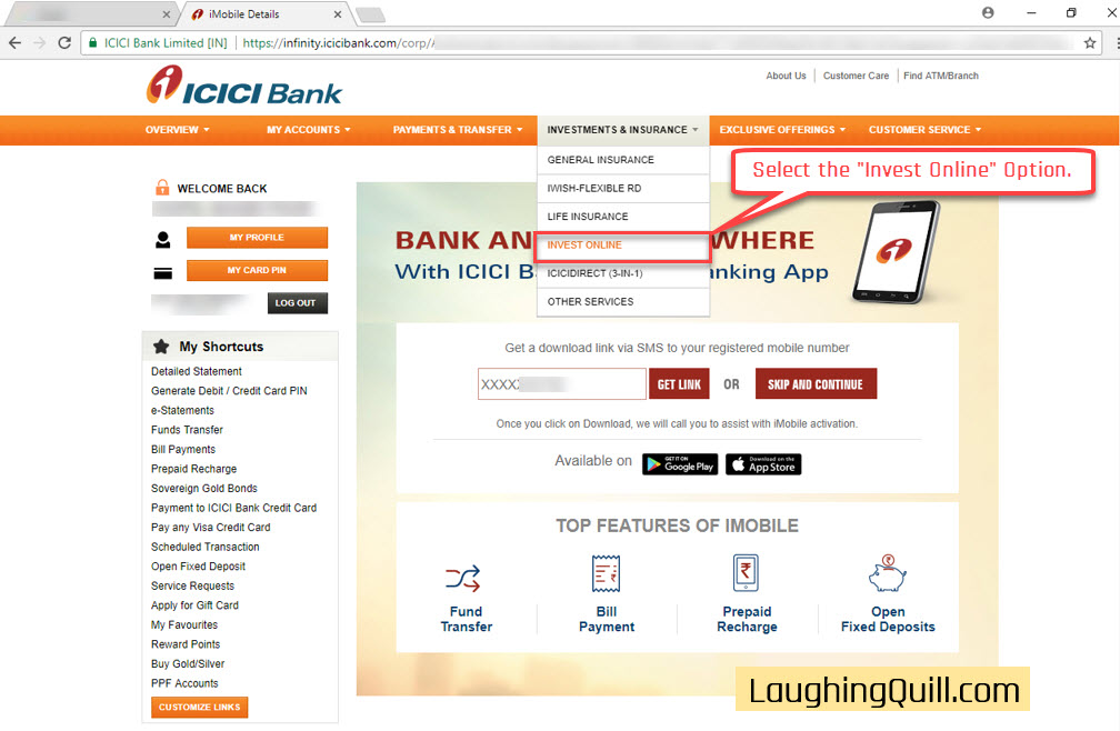 How to apply ipo through icici net banking