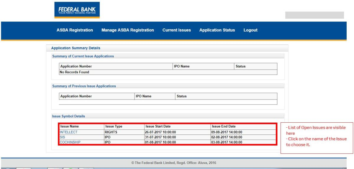 How to apply for IPO via Federal Bank NetBanking (ASBA)-09