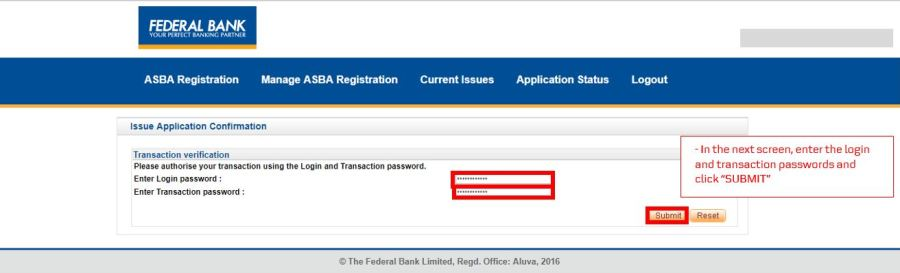 How to apply for IPO via Federal Bank NetBanking (ASBA)-11