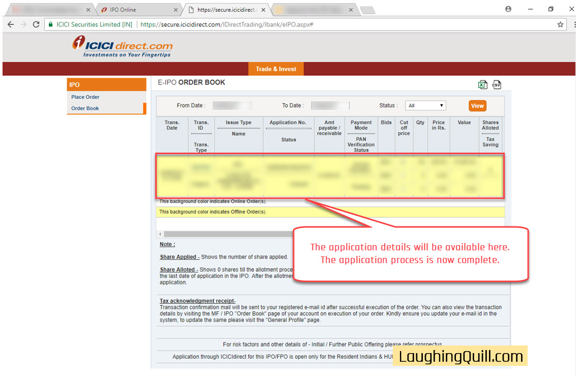 How to apply for IPO via ICICI Bank NetBanking (ASBA)-12