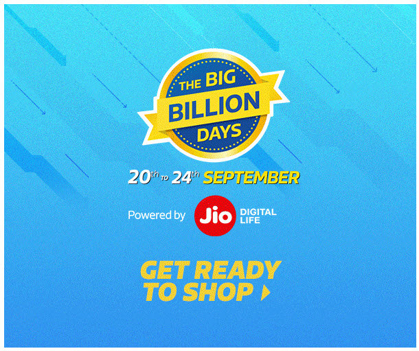 Flipkart Big Billion Days Sale [20-24 September 2017]