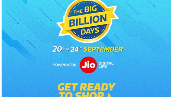 Flipkart Big Billion Days Sale [20-24 September 2017]