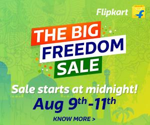 Flipkart- The Big Freedom Sale- August 2017