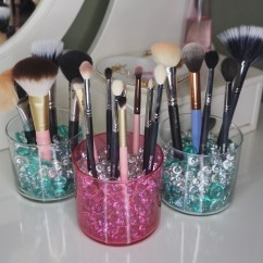 Kitchen Scrub Brush Holder Island With Stove Top Easy Diy Makeup Holders Using Old Candle Jars