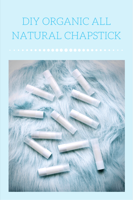 Diy Organic, All Natural Chapstick