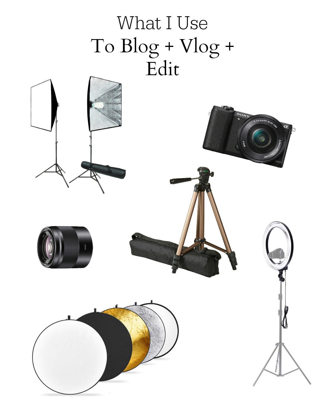 What I Use to Blog + Vlog + Edit