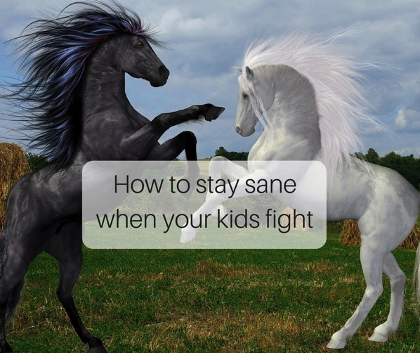 How to stay sane when your kids fight - horses fighting