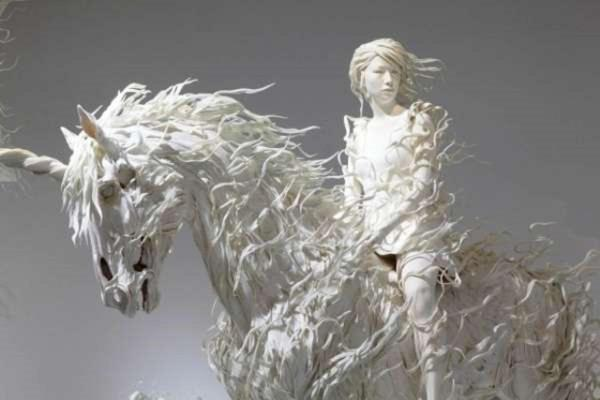 Awesome Sculpture Art Odani Motohiko - Lady With Silver Horse