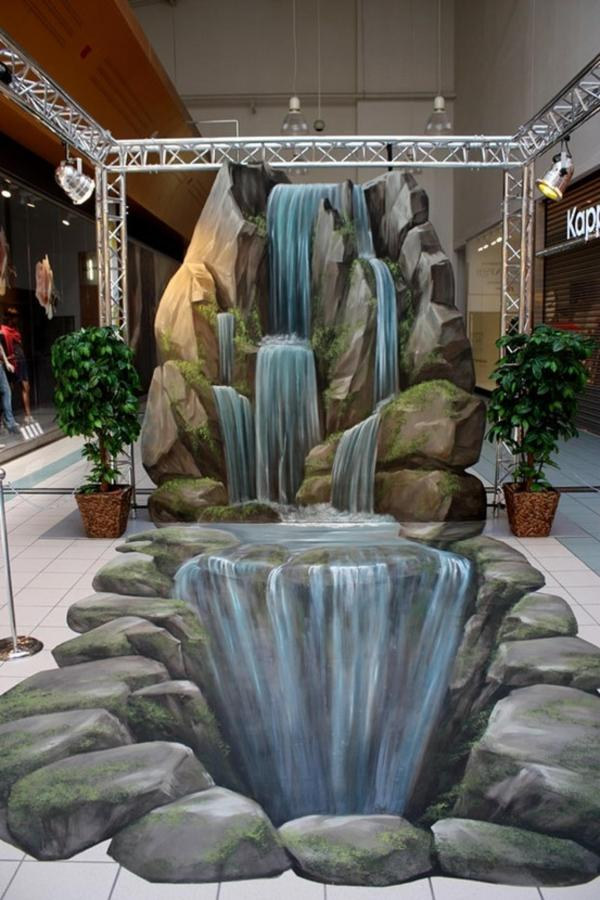 3D Street Art Waterfall