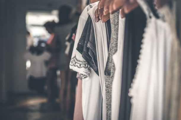clothes on hanger closet