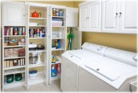 Laundry Room Storage Shelves | Laundry Room Storage Ideas