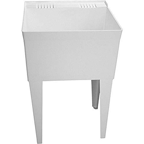 Fiat FL1100 23L x 21-1//2W x 36-3//16H Molded Stone Laundry Tub with Legs
