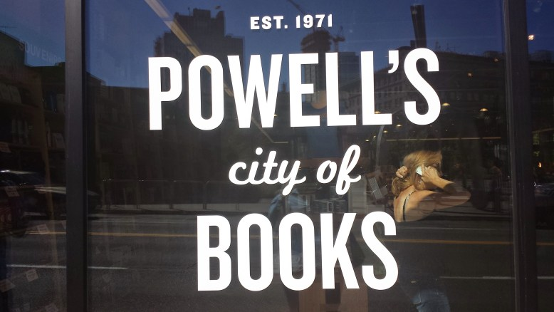 """Powell's is a tiny city of knowledge that lives in the downtown of Portland. I could have spent another 2-3 hours inside, pouring over the shelves. Powell's logo and branding is clean and concise, with a bit of playfulness."""