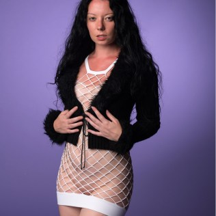 Miss LauraAnna in fur and net dress