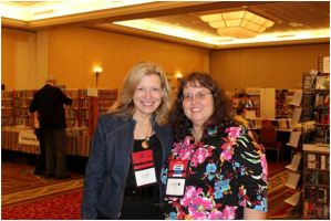 Laura and Beth Terrell at Bouchercon, St. Louis