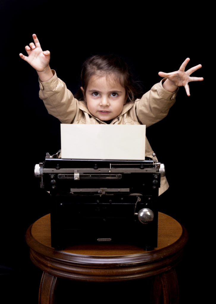 writer at work--istock photo