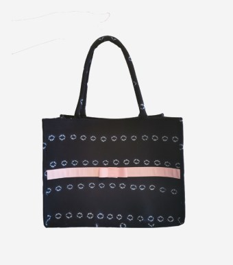 small indigo tote bag